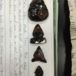 Obsidian points