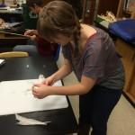 Preparing turkey feathers